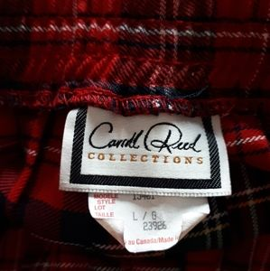 Carroll Reed Skirts - Carroll Reed Collections Red Tartan Skirt Large